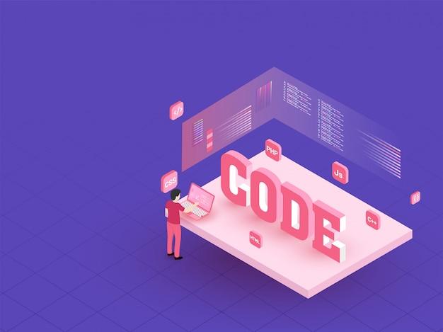 Code texte 3d