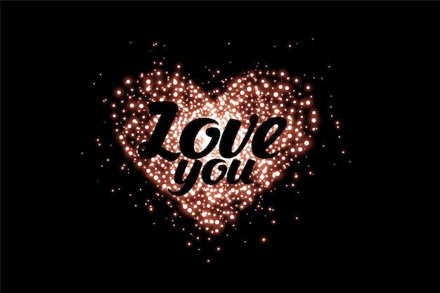 Coeur d'amour brillant fait d'étincelles