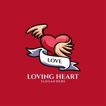 Coeur d'amour romantique joyeuses fêtes de la saint-valentin