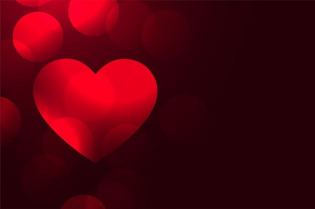 Coeur d'amour romantique rouge beau fond