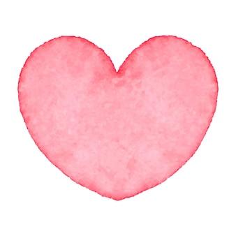 Coeur aquarelle. art abstrait dessiné à la main. élément de design pour la saint-valentin, mariage, baby shower, carte d'anniversaire, etc. illustration vectorielle.