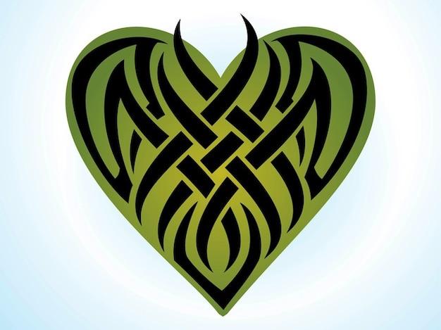 Coeur autocollant icône romantique