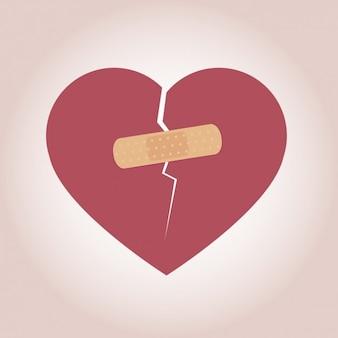 Coeur avec bande-aide