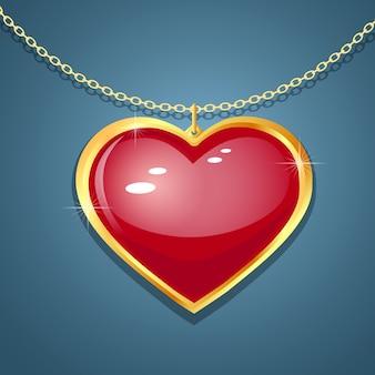 Coeur sur la chaîne.
