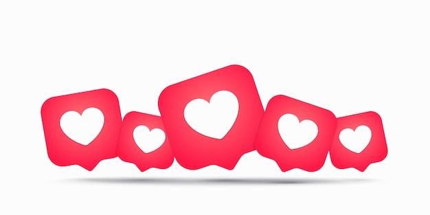 Coeur comme icône, illustration plate