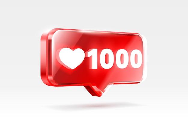 Coeur comme icône signe adepte d bannière amour post vecteur de médias sociaux