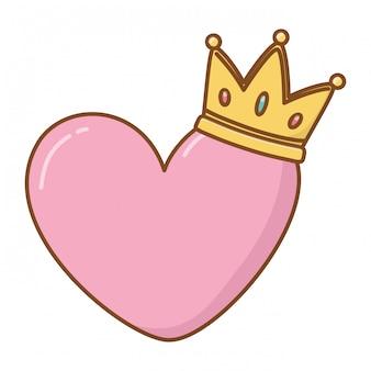 Coeur et couronne