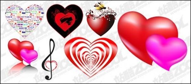 Coeur de différent remplit et conçoit