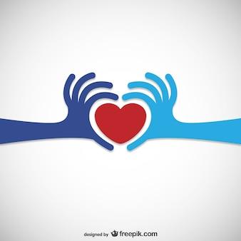 Coeur Don Logo Vecteur Premium