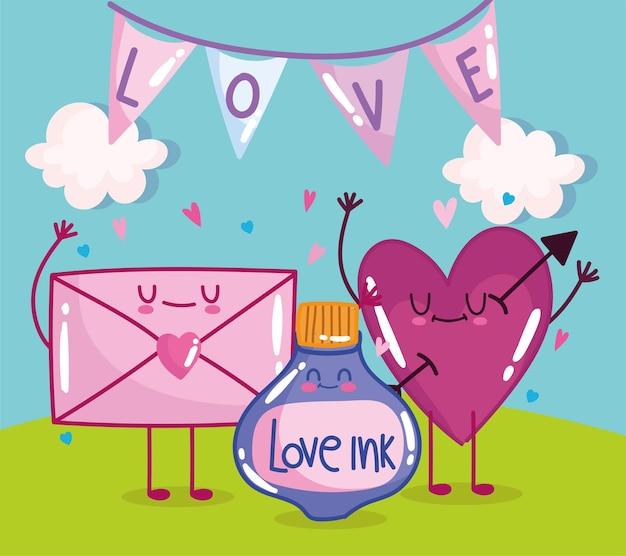 Coeur et enveloppe d'amour mignon