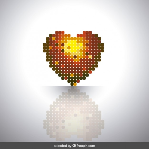 Coeur fait de carrés arrondis