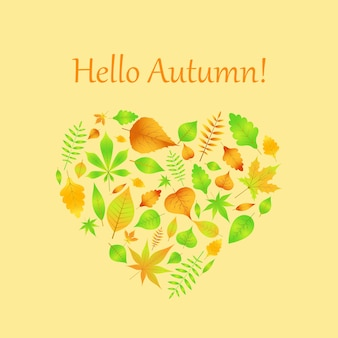 Coeur de feuilles d'automne