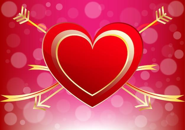 Cœur d'un fond d'amour décoratif saint-valentin