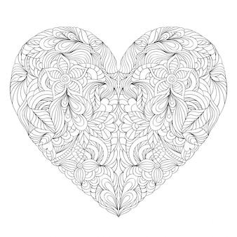 Coeur sur fond blanc