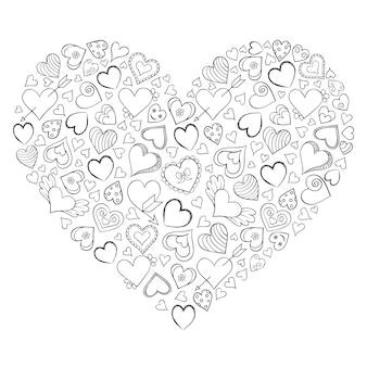 Coeur sur fond blanc.