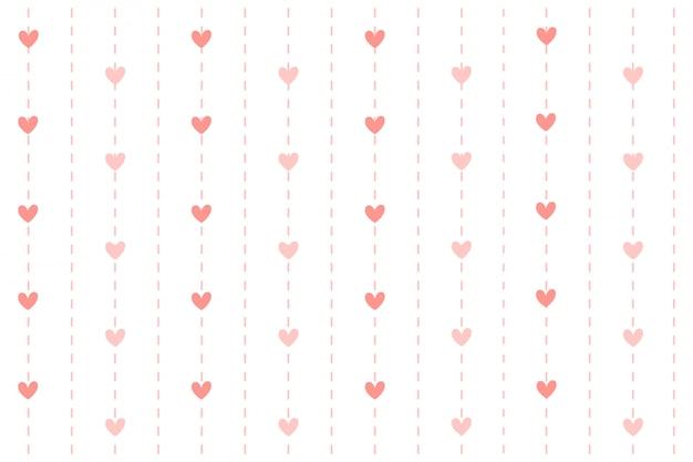 Coeur avec fond de ligne en pointillé.