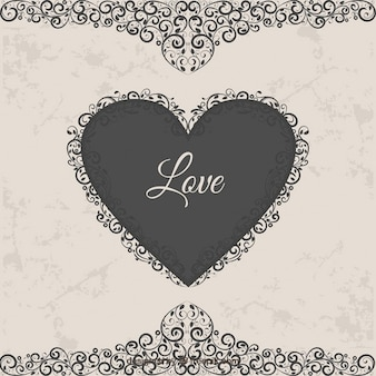 Coeur fond ornemental