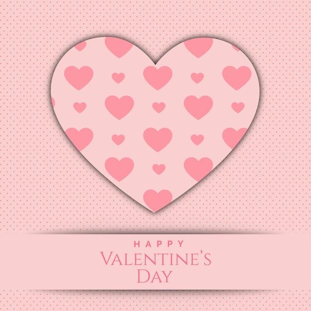 Coeur de fond de vecteur de papier saint valentin