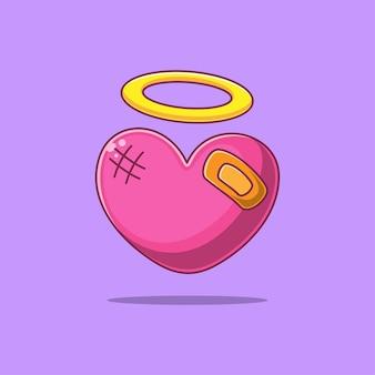 Coeur fragile de dessin animé