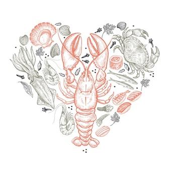Coeur de fruits de mer