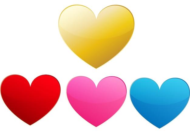 Coeur isoler pour le jour de la saint-valentin