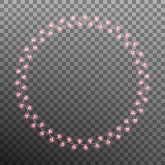 Coeur de lampe rougeoyante isolé sur fond transparent.