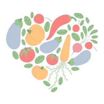 Coeur de légumes