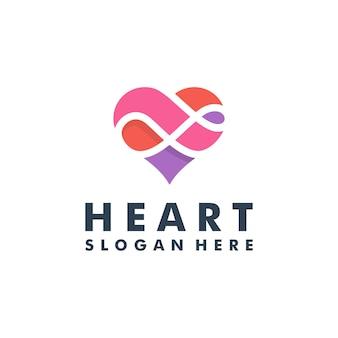 Coeur logo design icône vector illustration