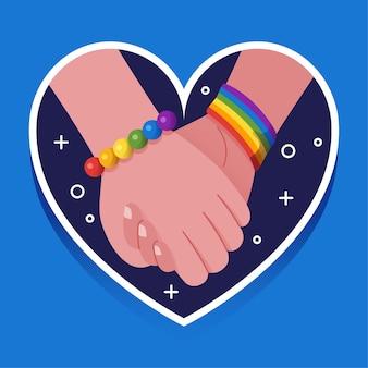 Coeur et mains tenant