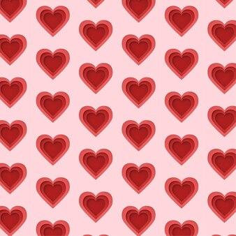 Coeur en modèle de style papier