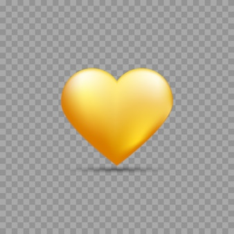 Coeur d'or avec ombre
