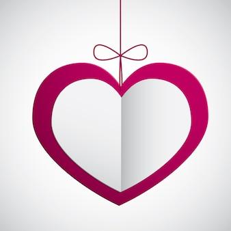 Coeur en papier suspendu