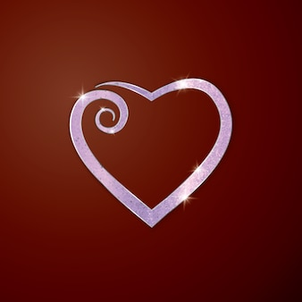Coeur pour carte de voeux.