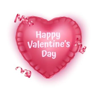 Coeur rose, carte de voeux de la saint-valentin