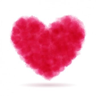 Coeur rouge griffonné