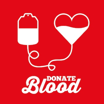 Coeur de sac blanc faire un don de transfusion sanguine médicale