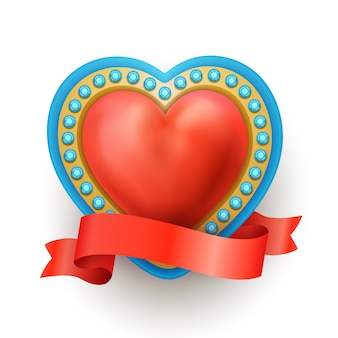 Coeur sacré rouge réaliste