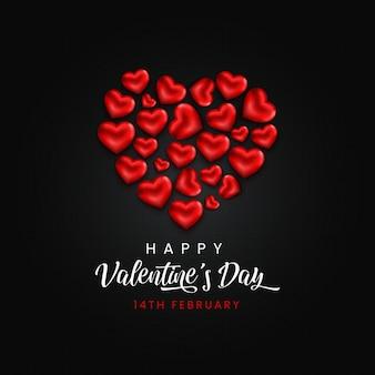 Coeur de saint valentin heureux.