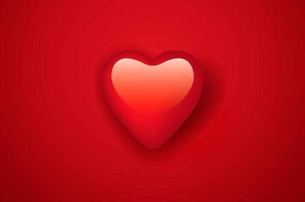 Le cœur de la saint-valentin.