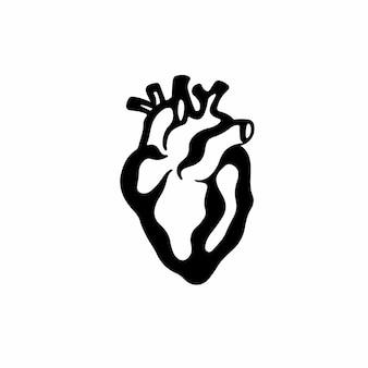 Coeur symbole tatouage conception illustration vectorielle