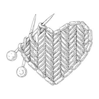 Coeur tricoté.