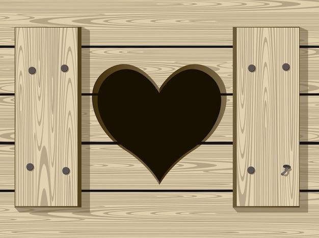 Coeur de trou dans des toilettes obsolètes