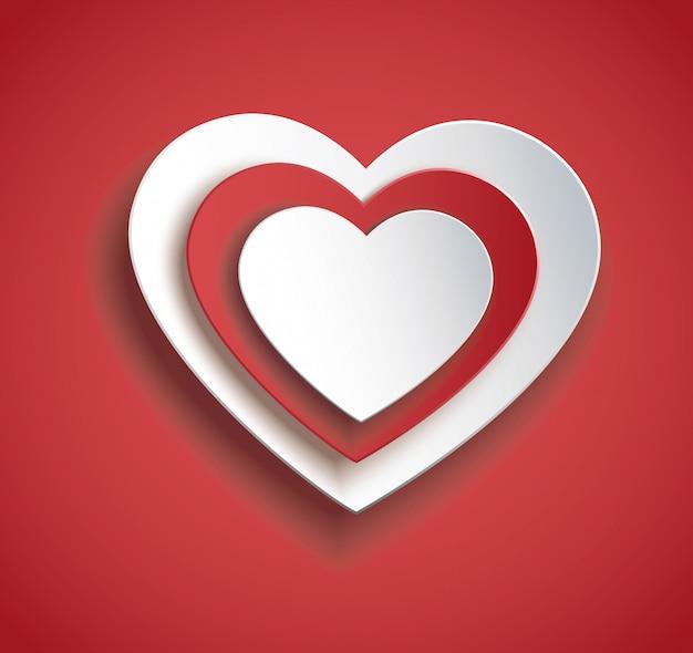 Coeur en vecteur d'icône de coeur. saint valentin