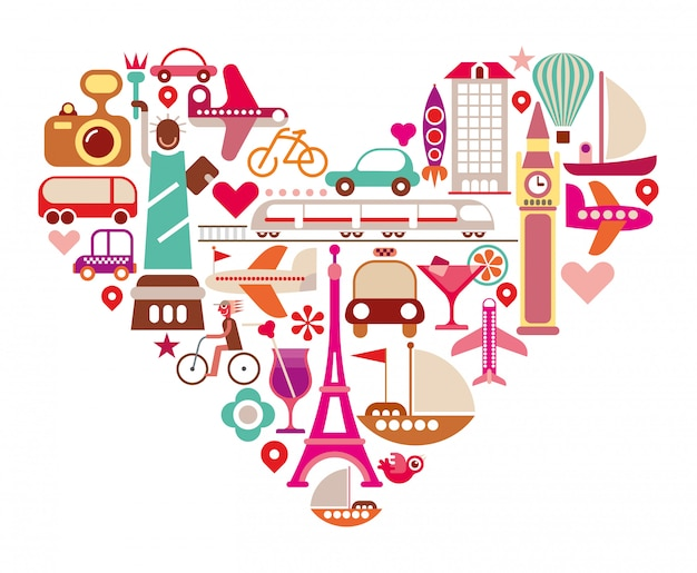 Coeur de voyage