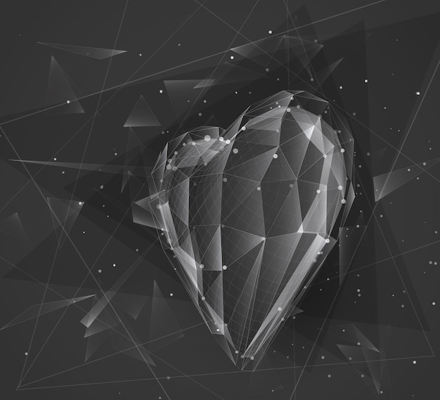 Coeur en vrac de vecteur pour la médecine et les vacances