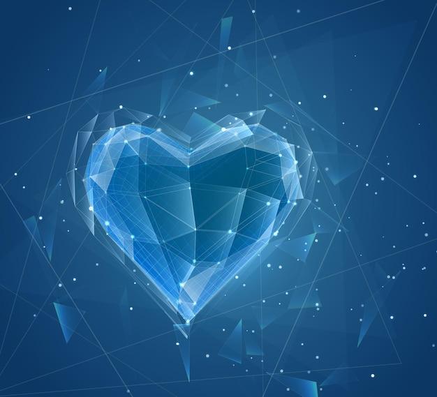 Coeur En Vrac De Vecteur Pour La Médecine Et Les Vacances Vecteur Premium