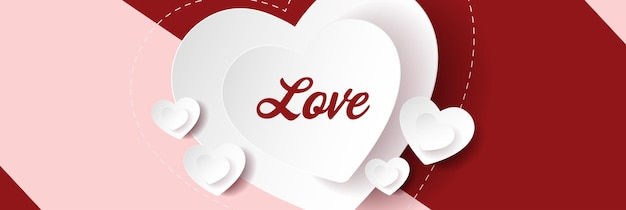 Les coeurs aiment le fond. conception de bannière de vecteur