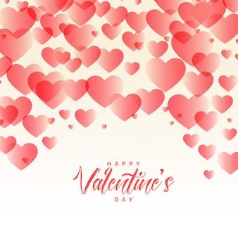 Coeurs élégants modèle beau fond de saint valentin