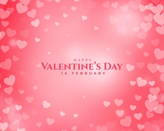 Coeurs élégants de saint valentin sur rose