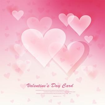 Coeurs sur fond d'amour abstrait soyez mon valentin